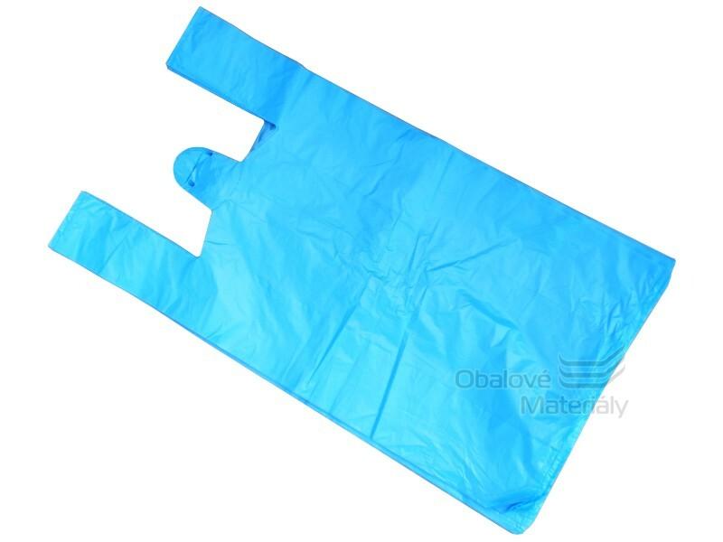 Mikroténová taška 15kg SILNÁ modrá 36+20*70 cm, balení 50 ks