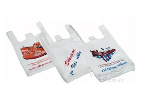 Mikroténová taška 28+14*48cm 100ks s potiskem DĚKUJEME