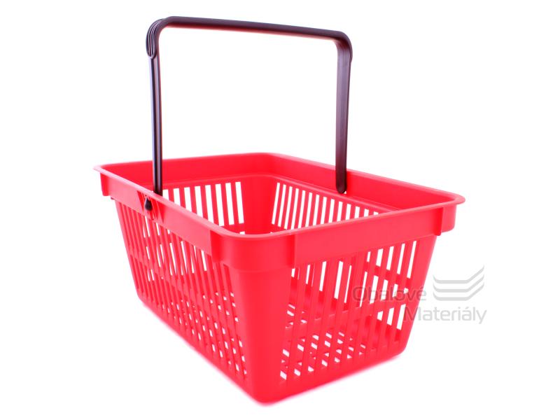 Plastový košík s 1 držadlem, 305*445*205 mm