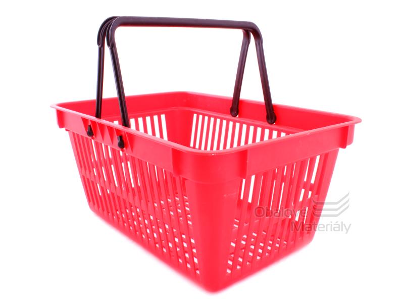 Plastový košík se 2 držadly, 305*445*205 mm