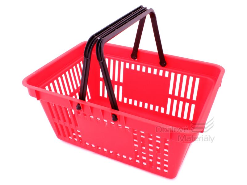Plastový košík se 2 držadly a plochou pro potisk, 305*445*205 mm