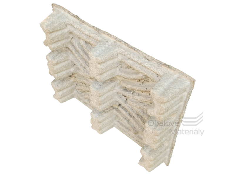 Paleta z nasávané kartonáže, 800*600*130 mm, recyklovaný papír