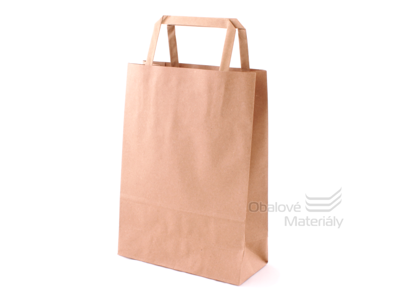Taška 18*8*25 cm, hnědý 100% recyklovaný papír 100 g