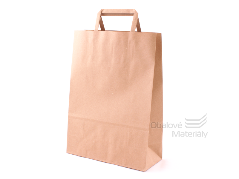 Taška 23*10*32 cm, hnědý 100% recyklovaný papír 100 g