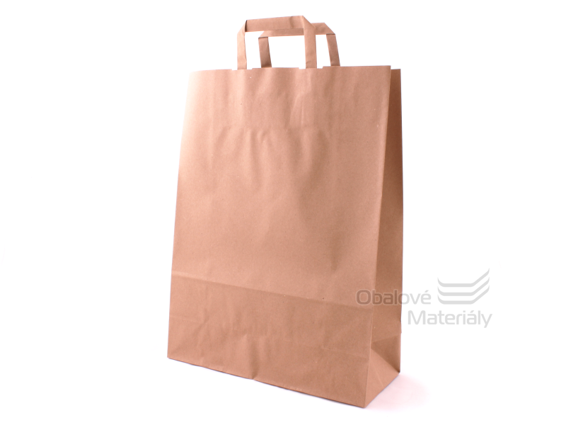 Taška 32*13*42,5 cm, hnědý 100% recyklovaný papír 100 g