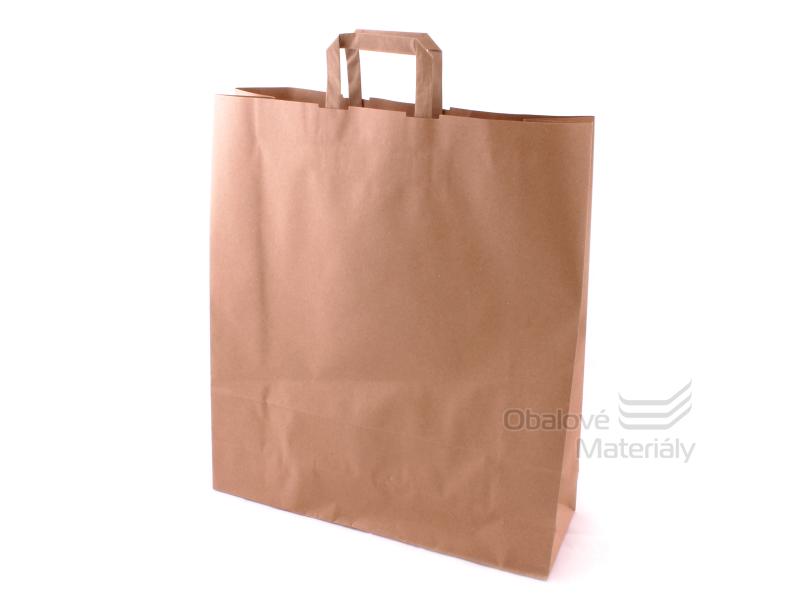 Taška 44*14*50 cm, hnědý 100% recyklovaný papír 100 g