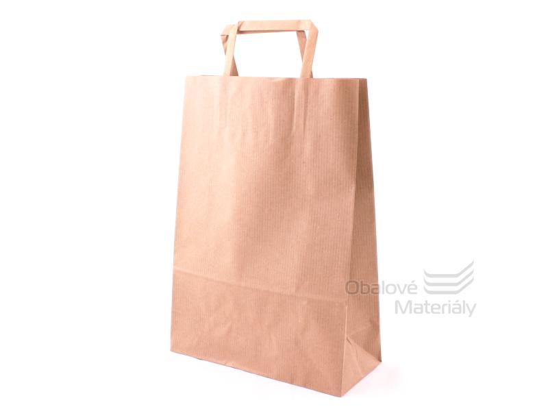 Taška 23*10*32 cm, hnědý sulfátový papír 100 g