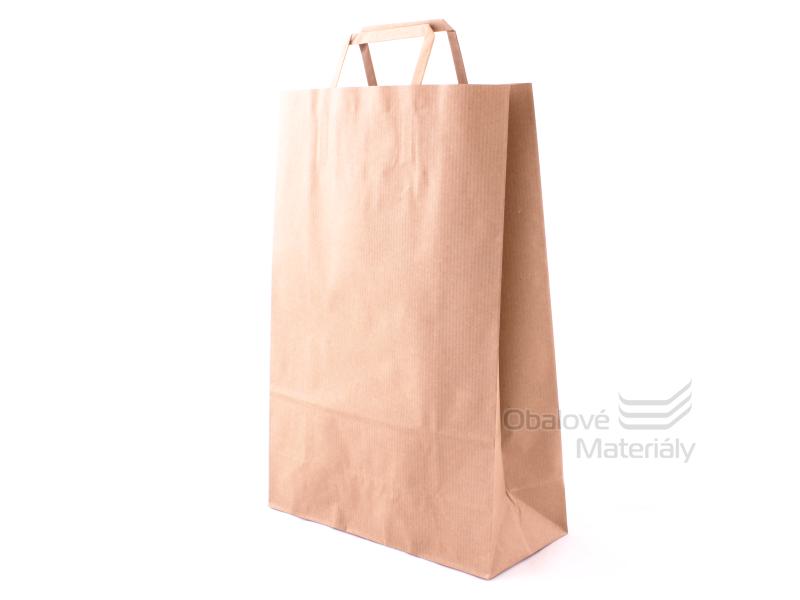 Taška 26*11*38 cm, hnědý sulfátový papír 100 g