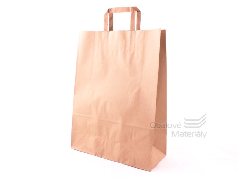 Taška 32*13*42,5 cm, hnědý sulfátový papír 100 g