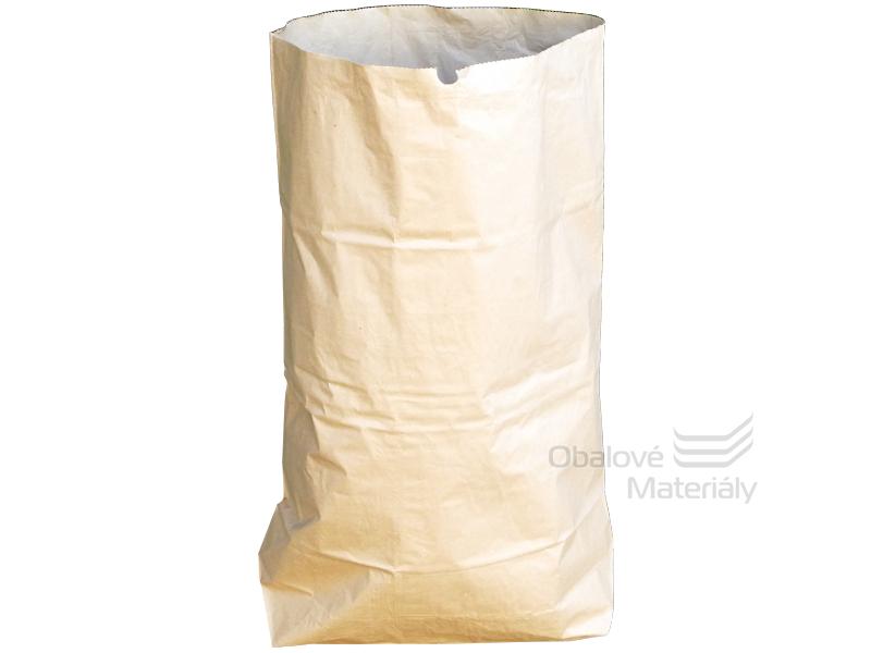 Papírový pytel nebělený 69,5*90+20 cm - 2-vrstvý