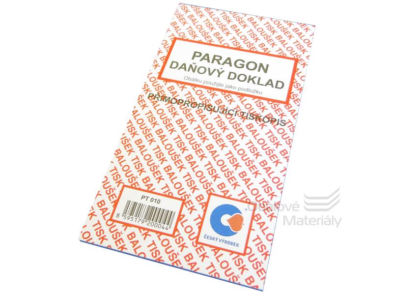 Paragon daňový doklad samopropis A6 3010/50 listů/blok
