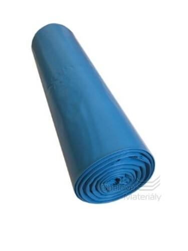 Plastové pytle 70*110 cm, typ 100, nosnost 25 kg, balení 15 ks - MODRÉ