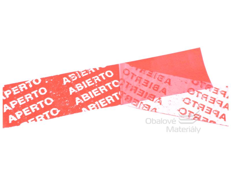 Bezpečnostní páska pečetící 50 mm*50 m červená