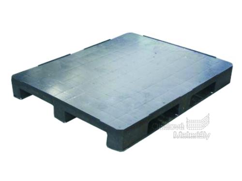 Paleta plastová hladká, 1200*1000*150 mm, barva černá
