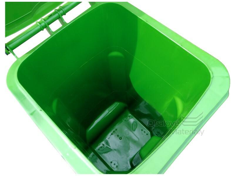 Plastová popelnice 120 l, NENÍ URČENA PRO SVOZ ODPADU V ČR, zelená, černá