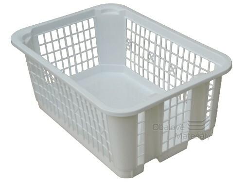 Plastový košík děrovaný, stohovatelný, 300*200*120 mm, 10 barev