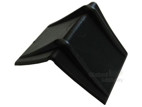 Roh plastový, pro páskování palet, 20 mm PE vroubky, černý rožek