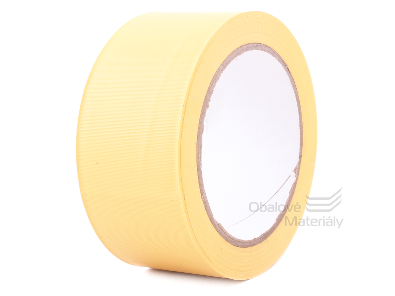 PVC lepící páska podlahová 50 mm*33 m žlutá