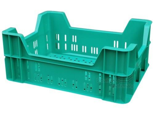 Plastová přepravka na ovoce a zeleninu 400 x 300 x 165mm zelená