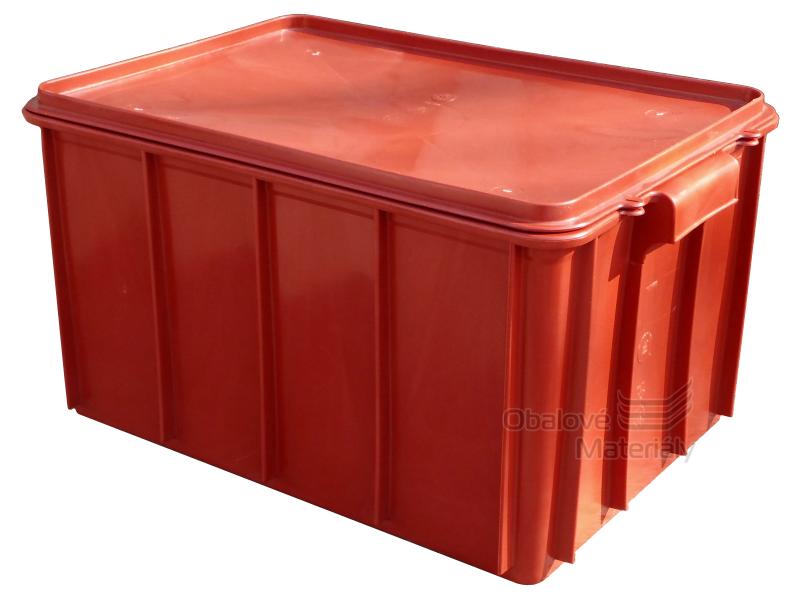 Plastová přepravka na maso T50 s víkem, 600*400*300mm