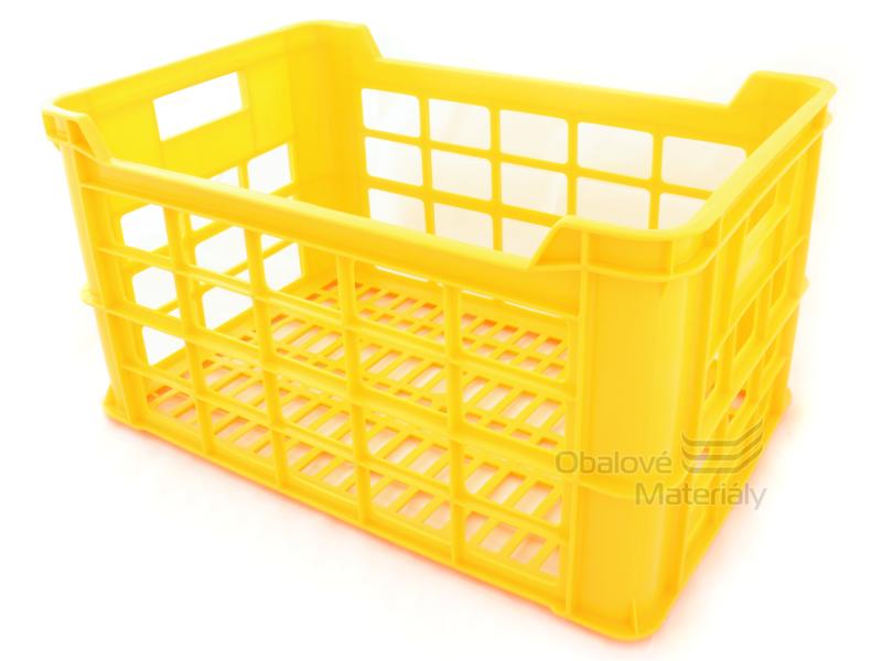 Přepravka na pečivo 600*400*324 mm, žlutá RPE