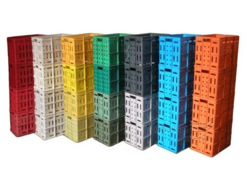 Plastové přepravky 600*400*400 mm použité různobarevné PVC