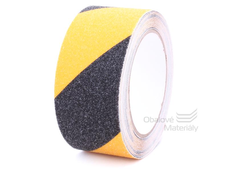 Protiskluzová páska 50 mm * 5 m, výstražná, žlutočerná