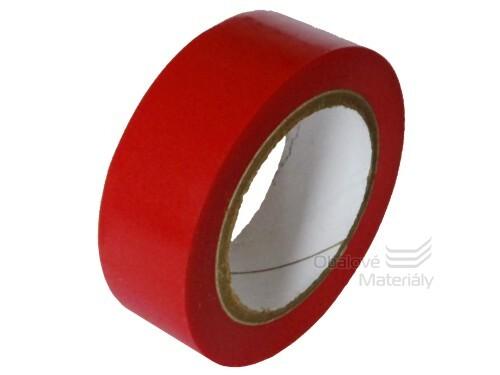 Izolační PVC páska 15 mm * 10 m, červená