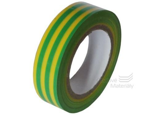 Izolační PVC páska 15 mm * 10 m, žluto-zelená