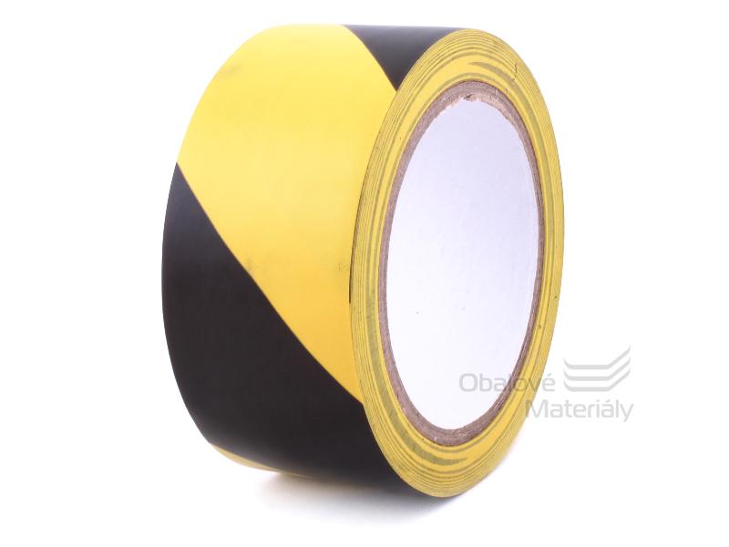 Výstražná lepící páska žlutočerná 50 mm*22 m PVC