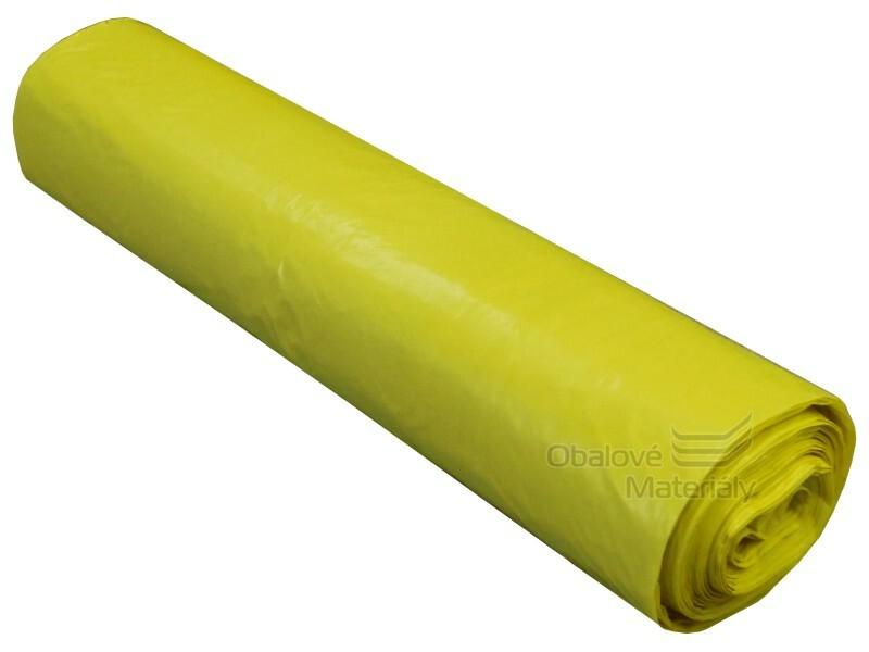 Pytle na odpad 70*110 cm, typ 60, nosnost 20 kg, role 25 ks, žluté