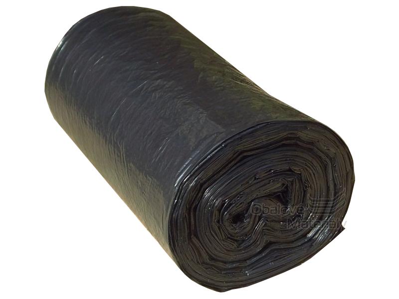 Odpadkové pytle 30l. 50*60 cm, černé, role 50 ks bez přebalu
