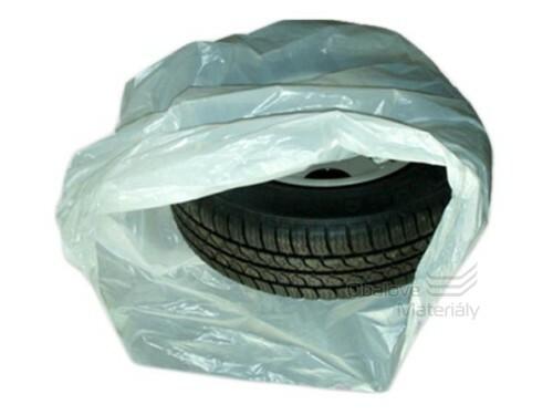 Igelitové pytle na pneu 100*100 cm, 40my, žluté, balení 20ks