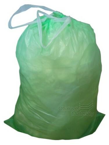 Odpadové pytle 60 l, 60*80 cm, zatahovací, zelené, 10 ks