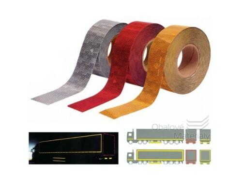 Reflexní páska červená 50mm prodej na metry