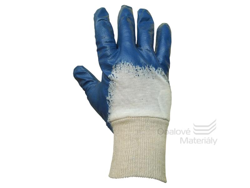 Rukavice pracovní JOKI - textilní máčené v nitrilu