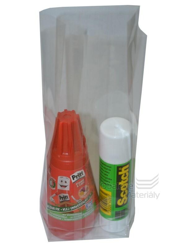 PP sáček hranolové dno, 70+40*215 mm, balení 50 ks