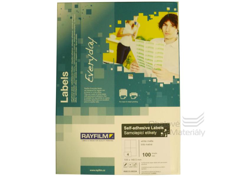 Samolepící etikety Rayfilm Everyday 105*148 mm, 100 archů