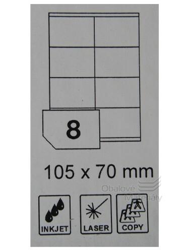 Samolepící etikety Rayfilm Everyday 105*70 mm, 100 archů