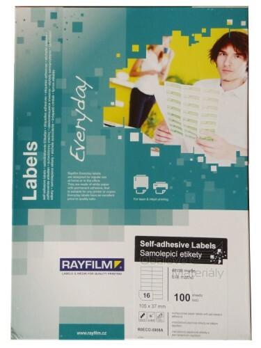 Samolepící etikety Rayfilm Everyday 105*37 mm, 100 archů