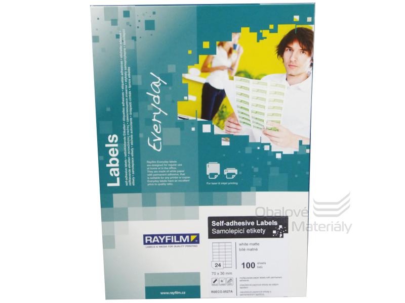 Samolepící etikety Rayfilm Everyday 70*36 mm, 100 archů