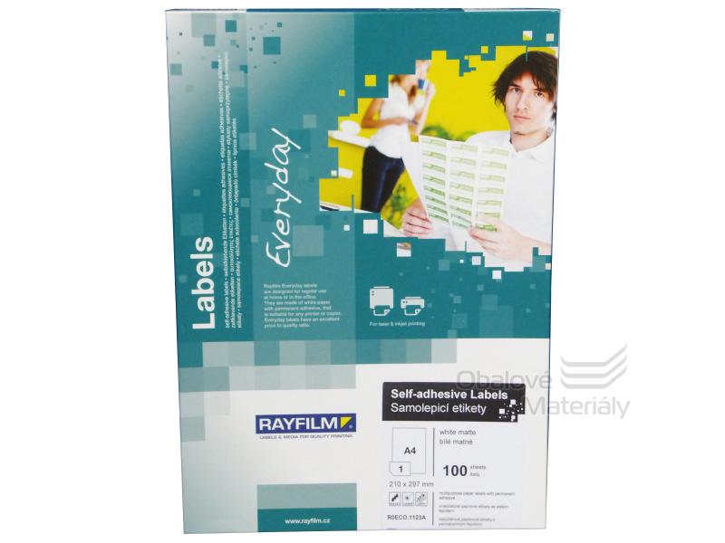 Samolepící etikety Rayfilm Everyday 210*297 mm, 100 archů