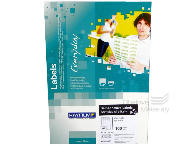Samolepící etikety Rayfilm Everyday 48,5*25,4 mm, 100 archů