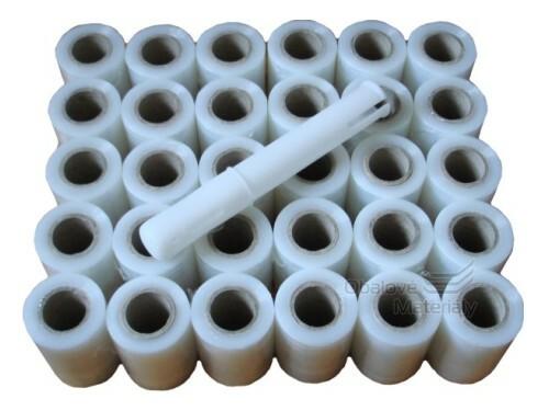 Set stretch folie Granát šíře 10 cm balení 55 ks a odvíječ
