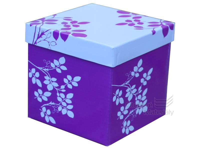 Skládací dárková krabička s víkem MALÁ, 120*120*120mm
