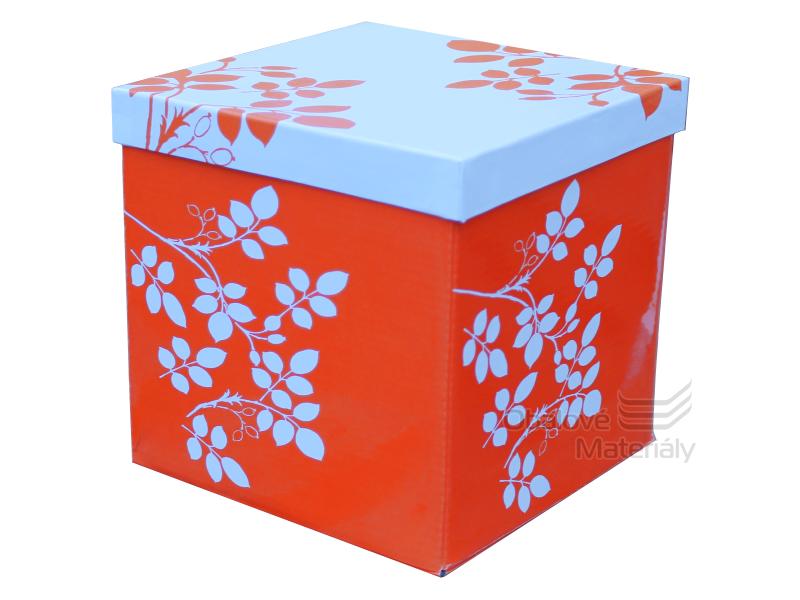 Skládací dárková krabička s víkem STŘEDNÍ, 170*170*170mm