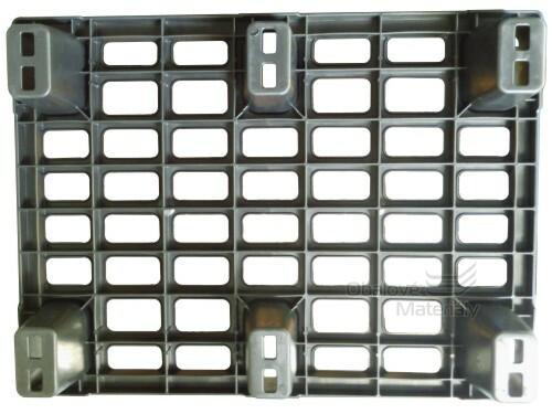 Paleta plastová stohovatelná 800*600*130 mm, černá