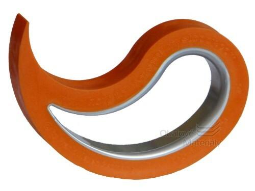 Jedinečná dveřní a okenní zarážka Stoppy Den Braven N5007 oranžo