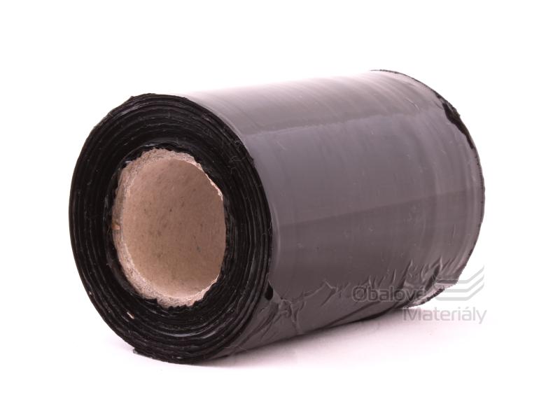 Stretch fólie Granát černá 300g, 10cm, 20my