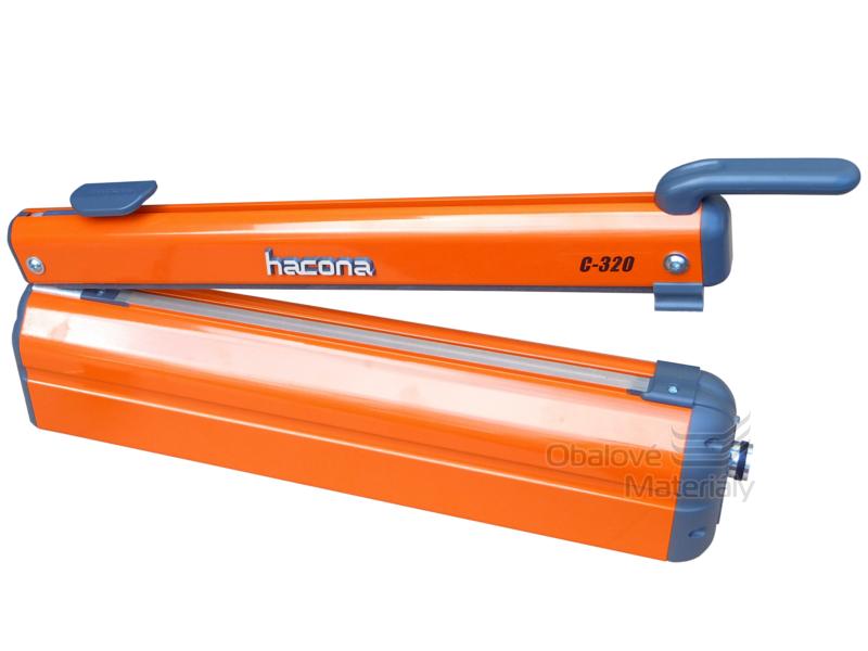 HACONA, C-320, Páková impulsní svářečka folií s ořezem